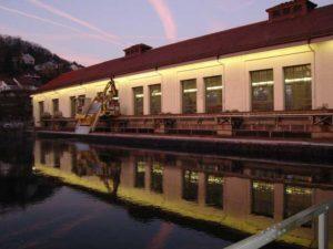 Besichtigung 2011 Wasserkraftwerk Aarau