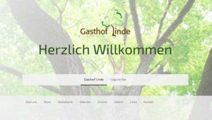 Website Gasthof Linde